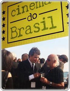 Rafael Cortez e Paulo Coelho em Cannes