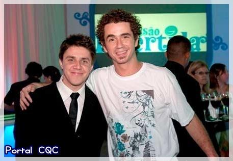 Oscar Filho e Felipe Andreoli em evento da APAE