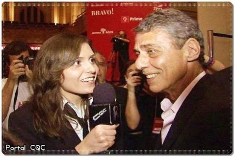 Monica Iozzi flerta com Chico Buarque
