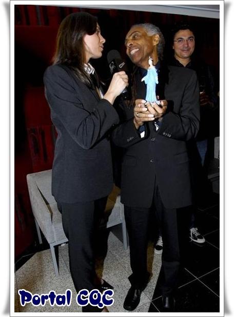 Mônica Iozzi e Gilberto Gil
